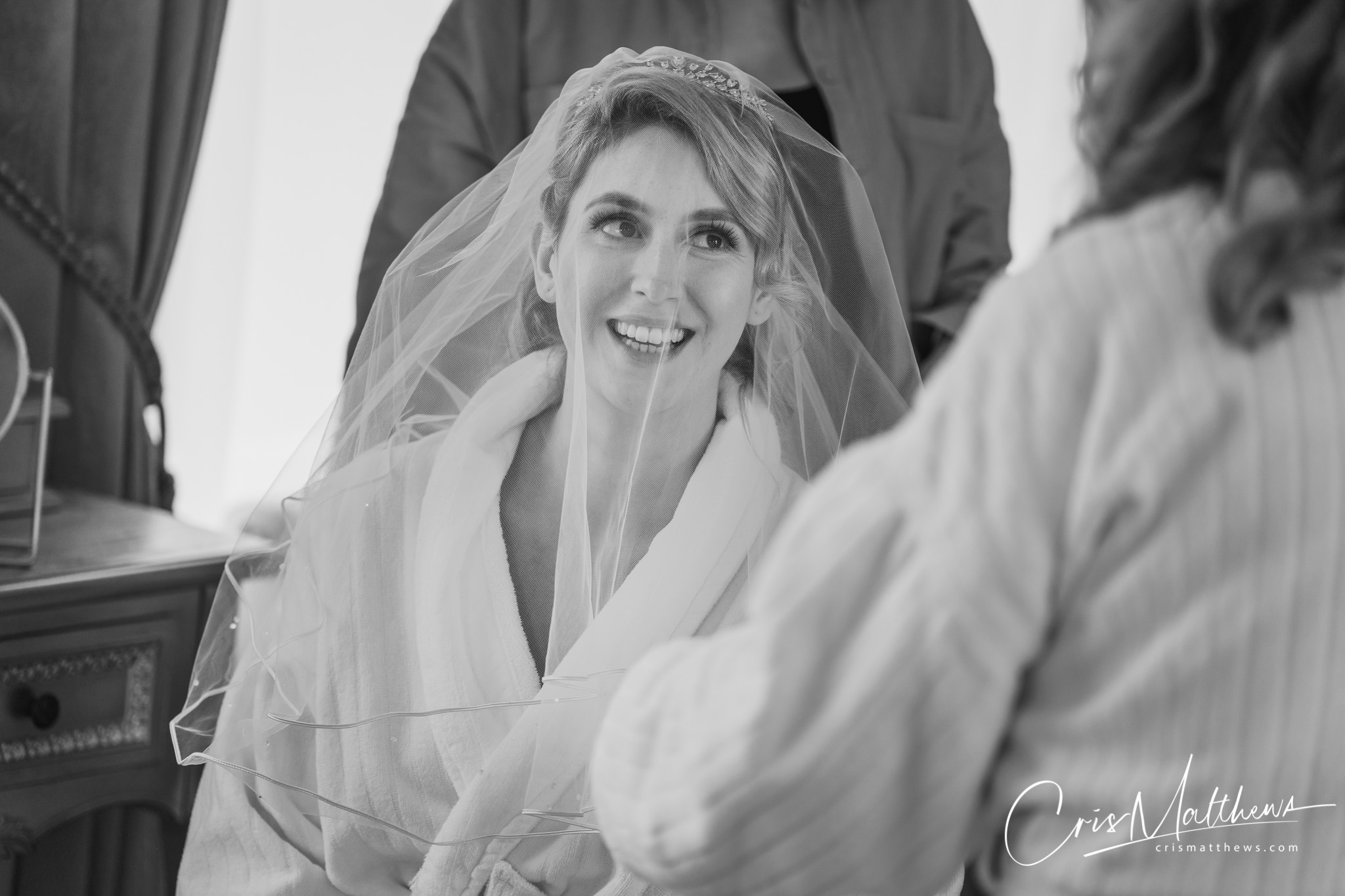 Bride at Hawkstone Hall Wedding Photography