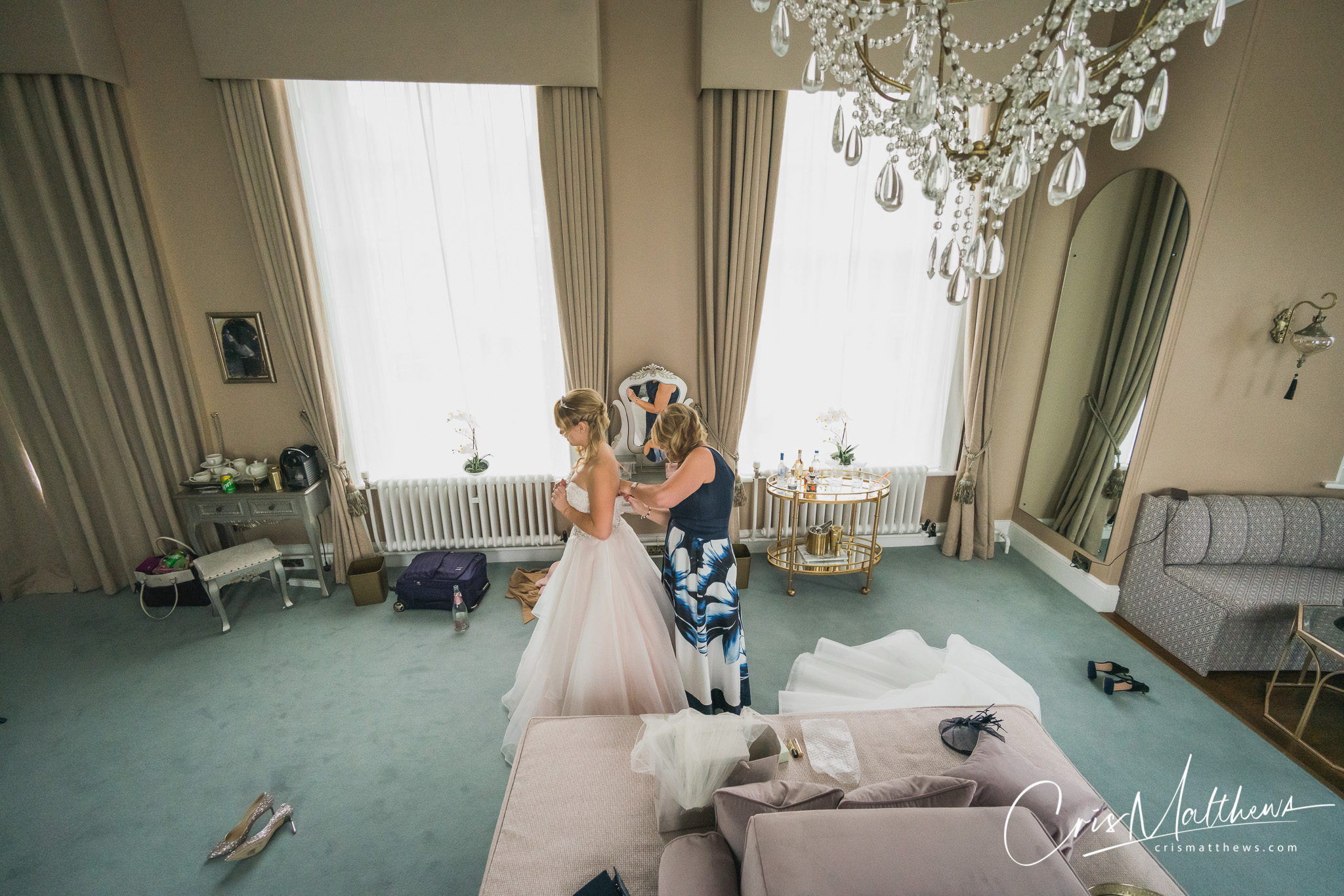 Bridal Suite at Hawkstone Hall Wedding Photography