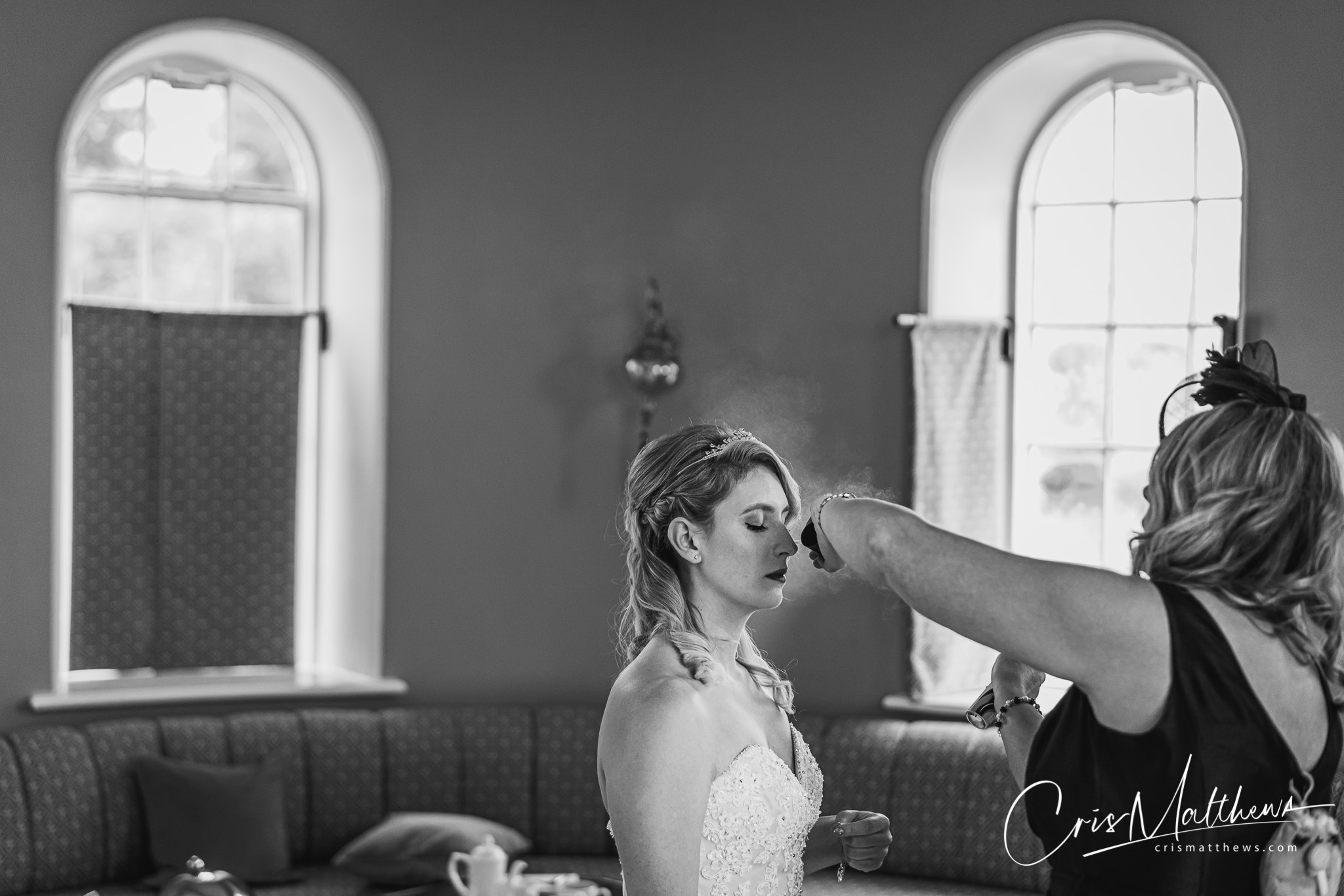 Hair at Hawkstone Hall Wedding Photography