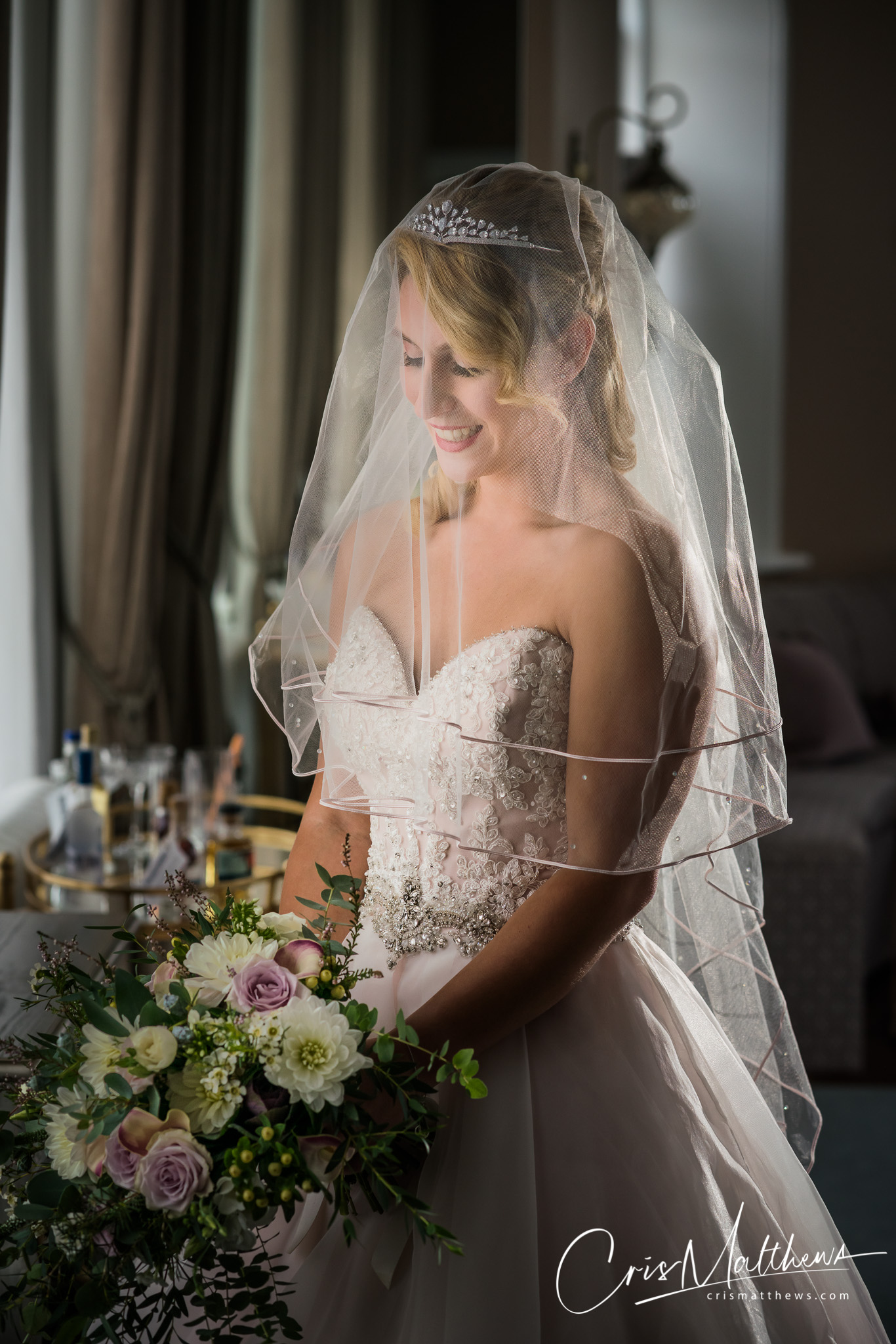Bridal Portrait at Hawkstone Hall Wedding Photography