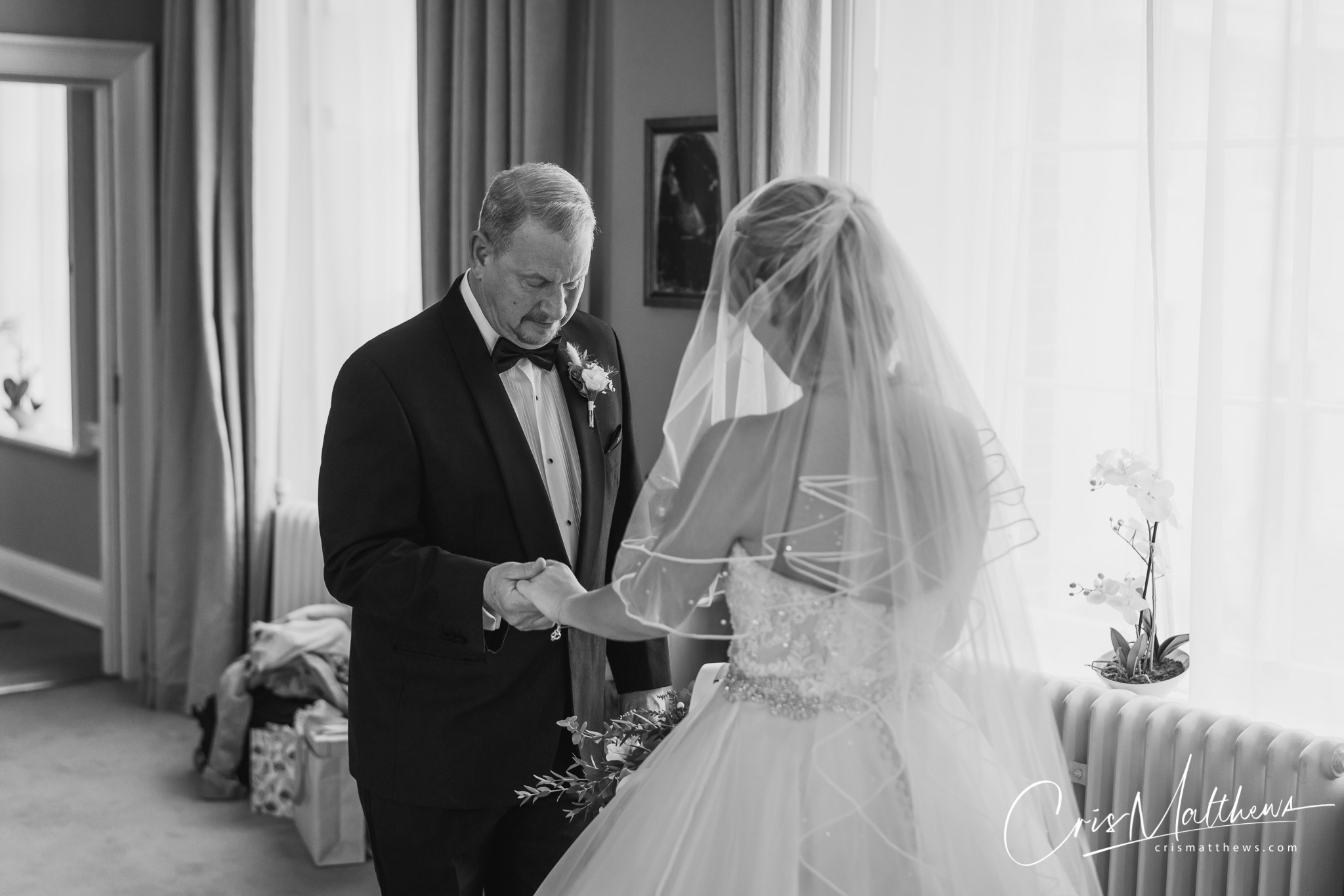 Father at Hawkstone Hall Wedding Photography
