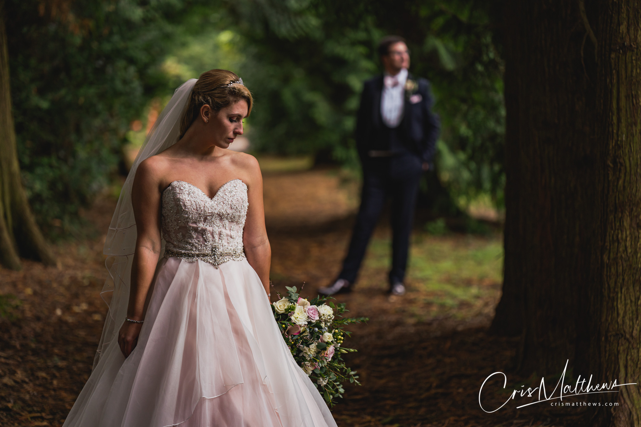 Woodland at Hawkstone Hall Wedding Photography