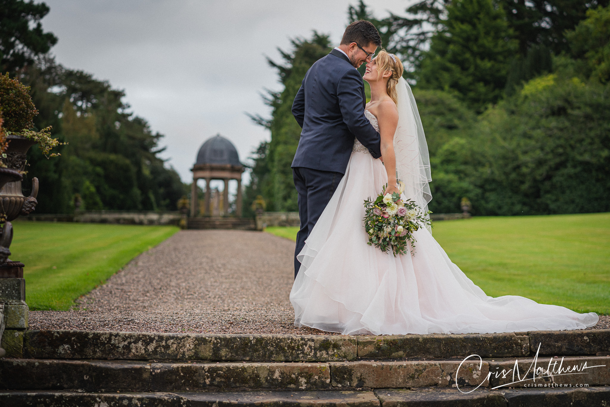 Happy Couple at Hawkstone Hall Wedding Photography